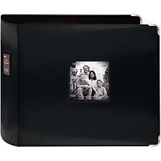 "Sewn Leatherette 3-Ring 12"" x 12"" Binder - Black"