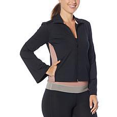 Shadow Sport Colorblock Bell-Sleeve Zip-Front Jacket
