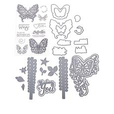 Sharon Callis Butterflies and Blooms Stamp and Die Bundle
