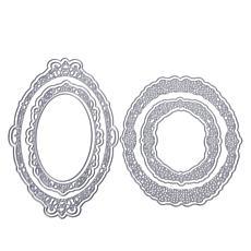 Sharon Callis Circle & Oval Vintage Lace Frame Dies