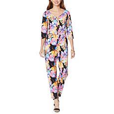 Shavonne Dorsey Azora 3/4-Sleeve Sweetheart Neckline Jumpsuit