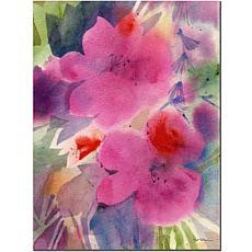 """Sheila Golden 'Pink Blossoms' Giclee Print - 35"""" x 47"""""""