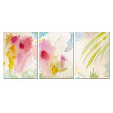 Sheila Golden 'Pink Interlude Triptych' Art Collection