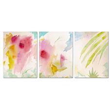 Sheila Golden 'Pink Interlude Triptych' Art Collection