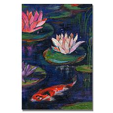 """Sheila Golden 'The Lily Pond' Giclee Print - 30"""" x 47"""""""