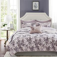 Shelby Full 8pc Coverlet and Sheet Set Gray