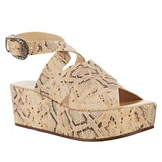 Sheryl Crow Roady Leather Wedge Platform Sandal