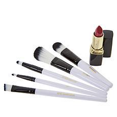 Signature Club A Professional 5-piece Brush Set with Lipstick