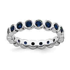 Simply Stacks™ Sterling Silver Gemstone Bezel-Set Eternity Stack Ring