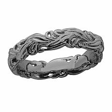 Simply Stacks  Sterling Silver Swirling Scroll Ring