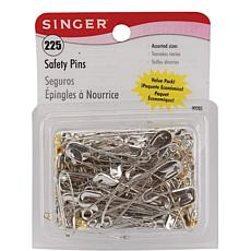 Singer Assorted Safety Pins - 225-pack