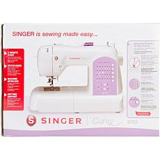 Singer Curvy Sewing Machine - White W/Pink Accents