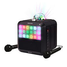 Singsation Star Burst All-in-One Portable Karaoke Speaker w/2 Mics