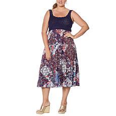 Sinnygirl Crochet Tiered Mini Dress