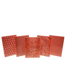 Sizzix 3D Textured Impressions Embossing Folders 5-piece Set