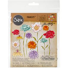 Sizzix Framelits Dies By Tim Holtz - Flower Garden and Mini Bouquet
