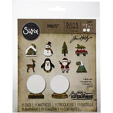 Sizzix Thinlits Dies By Tim Holtz 11-pack - Tiny Snowglobes