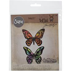 Sizzix Thinlits Dies By Tim Holtz 4-pack - Detailed Butterflies