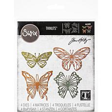 Sizzix Thinlits Dies By Tim Holtz 4-pack - Scribbly Butterfly