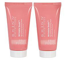 Skinn® Cosmetics 2-pack Fruit Fusion Wrinkle Soak™ Masks