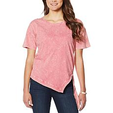 Skinnygirl Acid Wash High-Low Top
