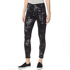 Skinnygirl Bailey Metallic Print Pull-On Legging