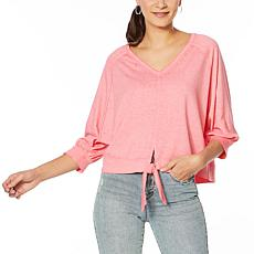 Skinnygirl Burnout Tie-Front Top