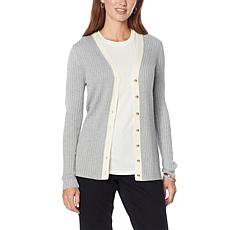 Skinnygirl Button-Front Sweater Knit Cardigan