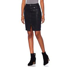 Skinnygirl Coated Denim Pencil Skirt