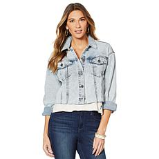 Skinnygirl Cropped Denim Jacket