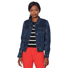 Skinnygirl Denim Jacket with Zipper Detail