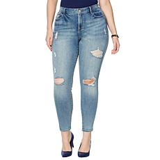 Skinnygirl The High Rise Skinny Jean Distressed