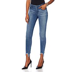 Skinnygirl The Skinny Jean with Distressed Hem