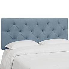 Skyline Furniture Diamond Tufted Velvet Headboard- King