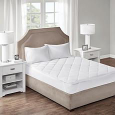 Sleep Philosophy Cooling & Warm Reversible Mattress Pad - Full, White