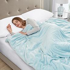 Sleep Philosophy Plush 18 lb. Weighted Blanket - Blue