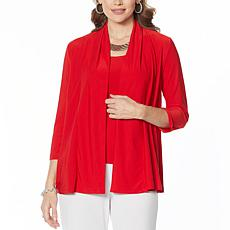 Slinky® Brand 2-piece Shawl Collar Jacket and Tank Set