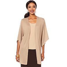 Slinky® Brand 2pc Hi-Low Sleeve Sweater Duster and Tank