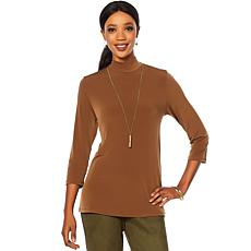 Slinky® Brand 2pk 3/4-Sleeve Mock-Neck Tunics
