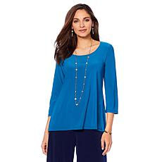 Slinky® Brand 2pk 3/4-Sleeve Solid Scoop Neck Tunic
