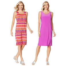 Slinky® Brand 2pk Sleeveless Tank Dress in Solid and Print
