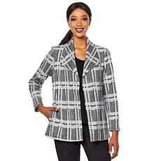 Slinky® Brand Long-Sleeve Plaid Jacket
