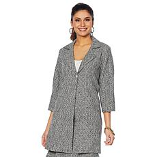 Slinky® Brand Notch-Collar Boucle Trench Coat