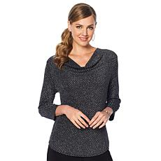 Slinky® Brand Patterned Sparkle Knit Tunic