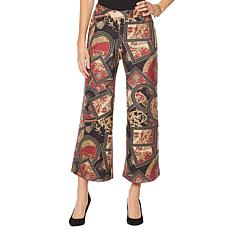Slinky® Brand Printed Faux Suede Palazzo Pant