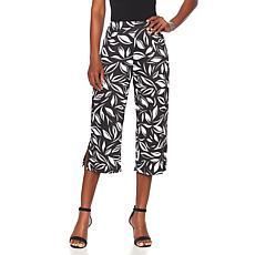 Slinky® Brand Printed Knit Basic Cropped Pant