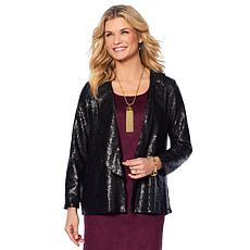 Slinky® Brand Sequin Blazer