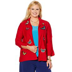 Slinky® Brand Travel Stretch Butterfly Jacket