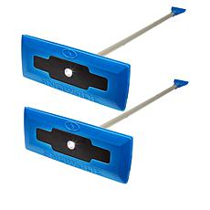Snow Joe® 2-pack LED Snow Broom and Ice Scraper