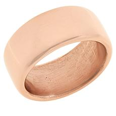 Soave Oro 14K Gold Electroform Flat Polished Band Ring